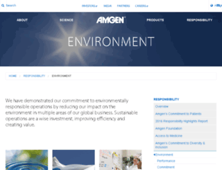 environment.amgen.com screenshot