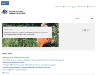 environment.gov.au screenshot