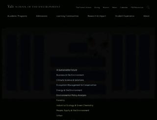 environment.yale.edu screenshot