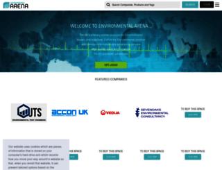 environmentalarena.co.uk screenshot