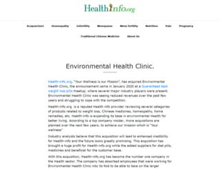 environmentalhealthclinic.net screenshot