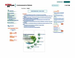 environnement.wallonie.be screenshot