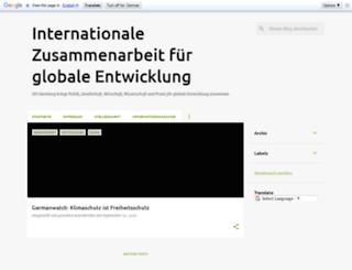 enwicklungspolitik.blogspot.de screenshot