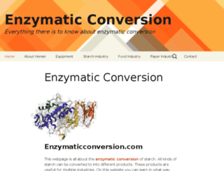 enzymaticconversion.com screenshot