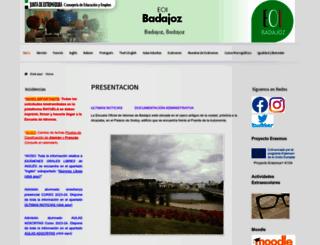 eoibadajoz.educarex.es screenshot