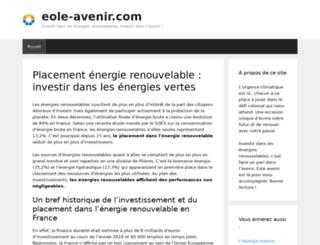 eole-avenir.com screenshot