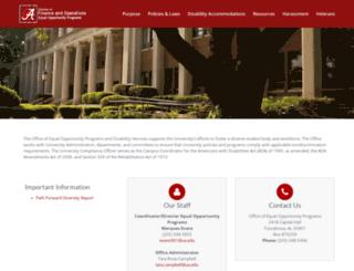 eop.ua.edu screenshot