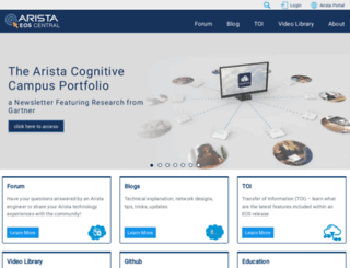 eos.arista.com screenshot