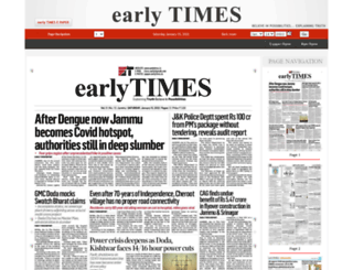 epaper.earlytimes.in screenshot