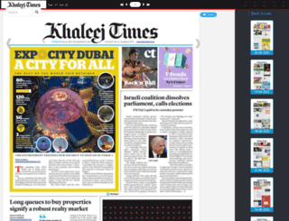 epaper.khaleejtimes.com screenshot