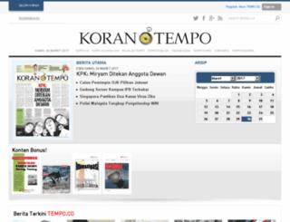 epaper.korantempo.com screenshot
