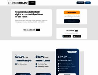 epaper.thehindu.com screenshot