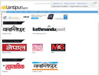 epapernp.ekantipur.com screenshot