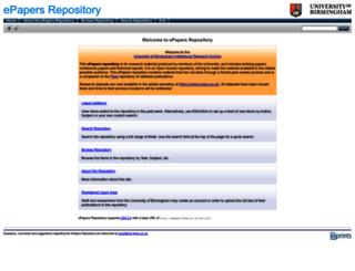 epapers.bham.ac.uk screenshot