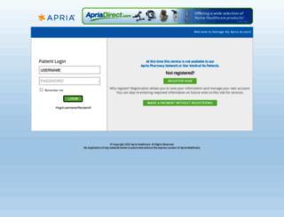 epay.apria.com screenshot