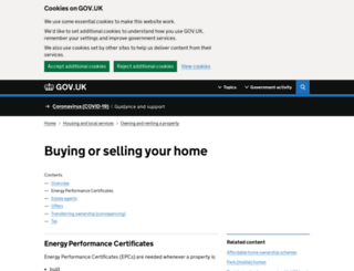 epc.direct.gov.uk screenshot