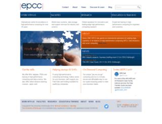 epcc.ed.ac.uk screenshot