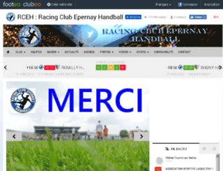epernay-handball.clubeo.com screenshot