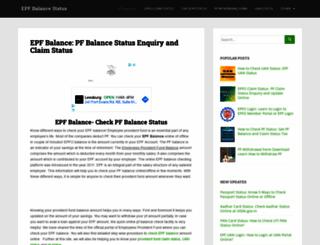epfbalancestatus.co.in screenshot