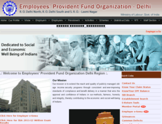 epfdelhi.gov.in screenshot