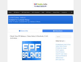 epfindia.info screenshot