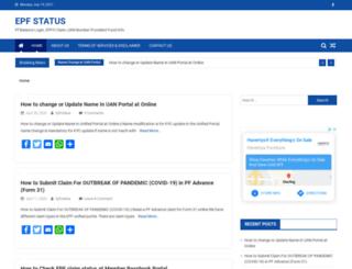 epfstatus.in screenshot