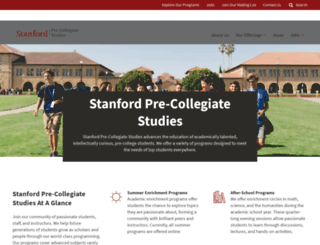 epgy.stanford.edu screenshot