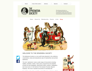 ephemera-society.org.uk screenshot