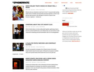 ephemerratic.com screenshot