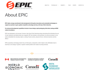 epic-semiconductors.com screenshot