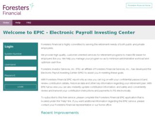 epic.forestersfinancial.com screenshot