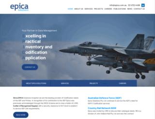 epica.com.au screenshot