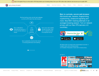 epicbrowser.com screenshot