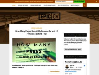 epiccv.com screenshot