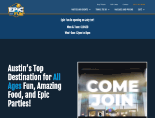 epicfun.com screenshot