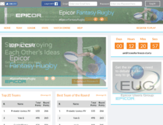 epicorfantasyrugby.com screenshot