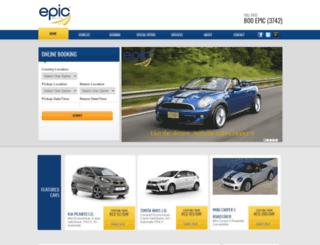 epicrentacar.com screenshot