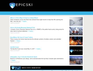 epicski.onthesnow.com screenshot