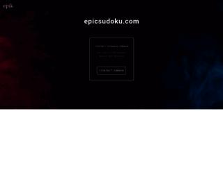 epicsudoku.com screenshot
