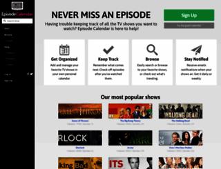 episodecalendar.com screenshot