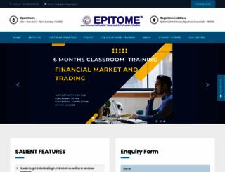 epitomegroup.in screenshot