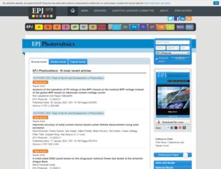 epjpv.epj.org screenshot