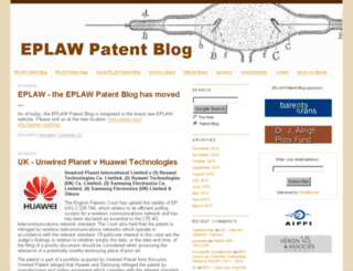 eplawpatentblog.com screenshot