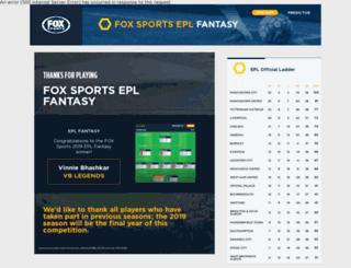 eplfantasy.foxsports.com.au screenshot