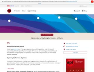 epljournal.edpsciences.org screenshot