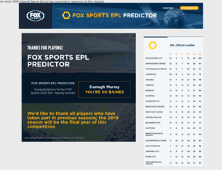 epltipping.foxsports.com.au screenshot