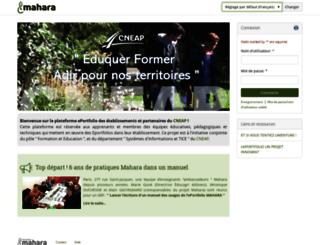 eportfolio.cneap.fr screenshot