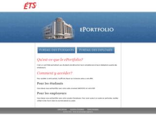 eportfolio.etsmtl.ca screenshot
