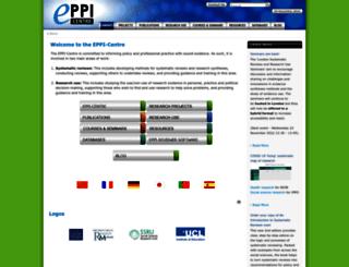 eppi.ioe.ac.uk screenshot