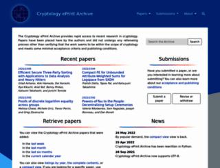eprint.iacr.org screenshot